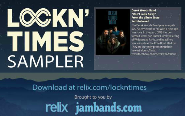"Derek Woods Band featured in Relix Magazine special edition ""Lockn' Times"" at Lockn' Festival"